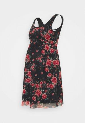 Korte jurk - black/pink