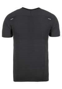 Nike Performance - TECH ULTRA LAUFSHIRT HERREN - Triko spotiskem - black/dark smoke grey - 1