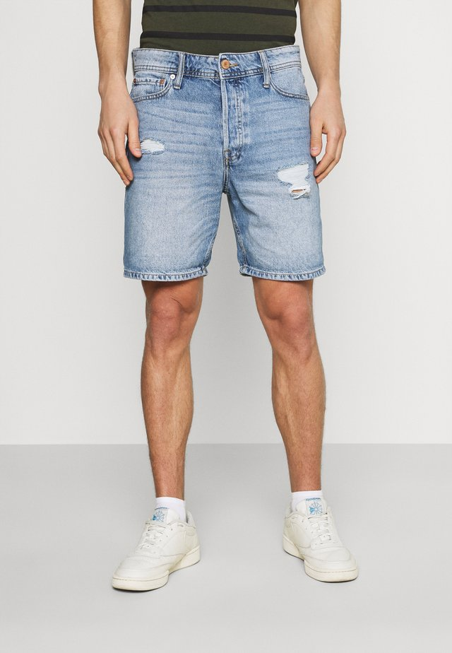 JJICHRIS JJORIGINAL - Shorts di jeans - blue denim