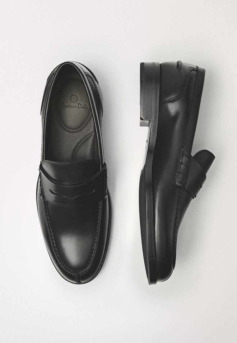 Massimo Dutti Slip-ins - black/svart - Herrskor cu7AM