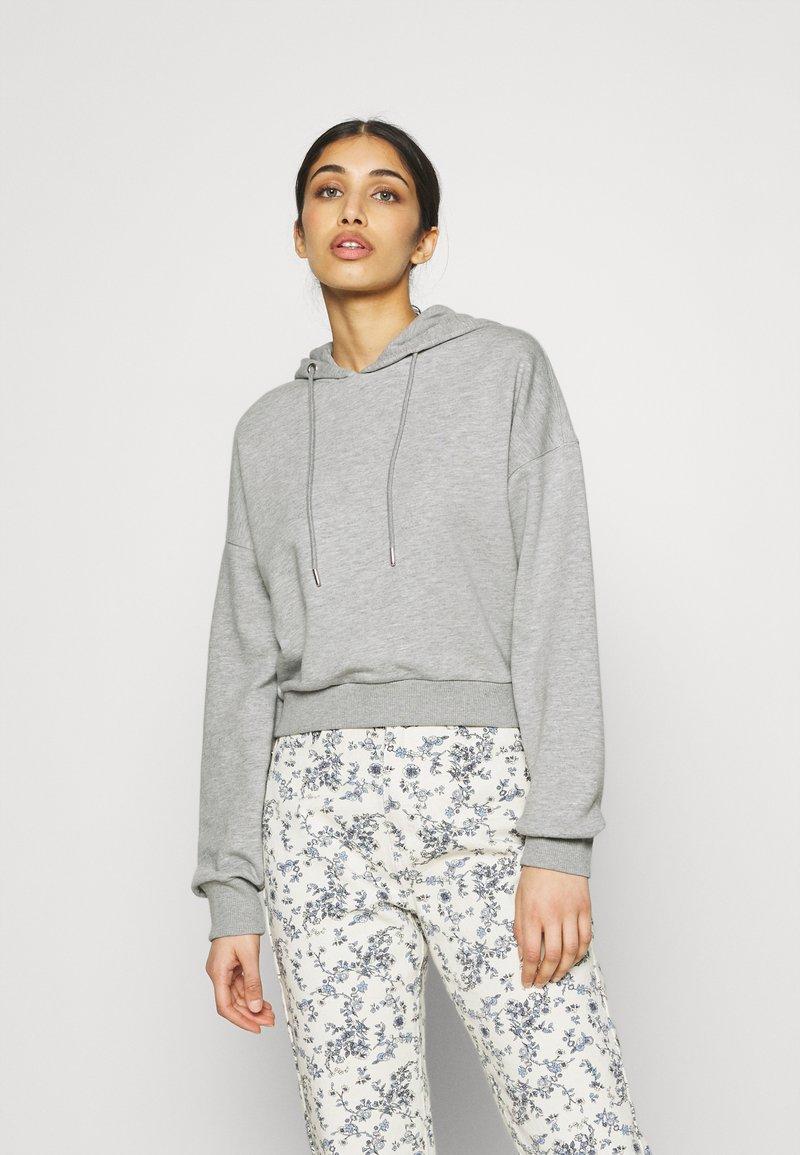 NU-IN - CROPPED HOODIE - Sweatshirt - grey marl
