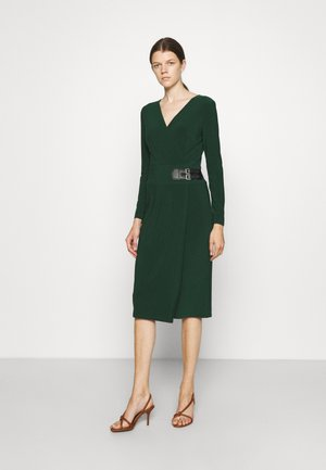 NETTIE LONG SLEEVE DAY DRESS - Jersey dress - deep pine