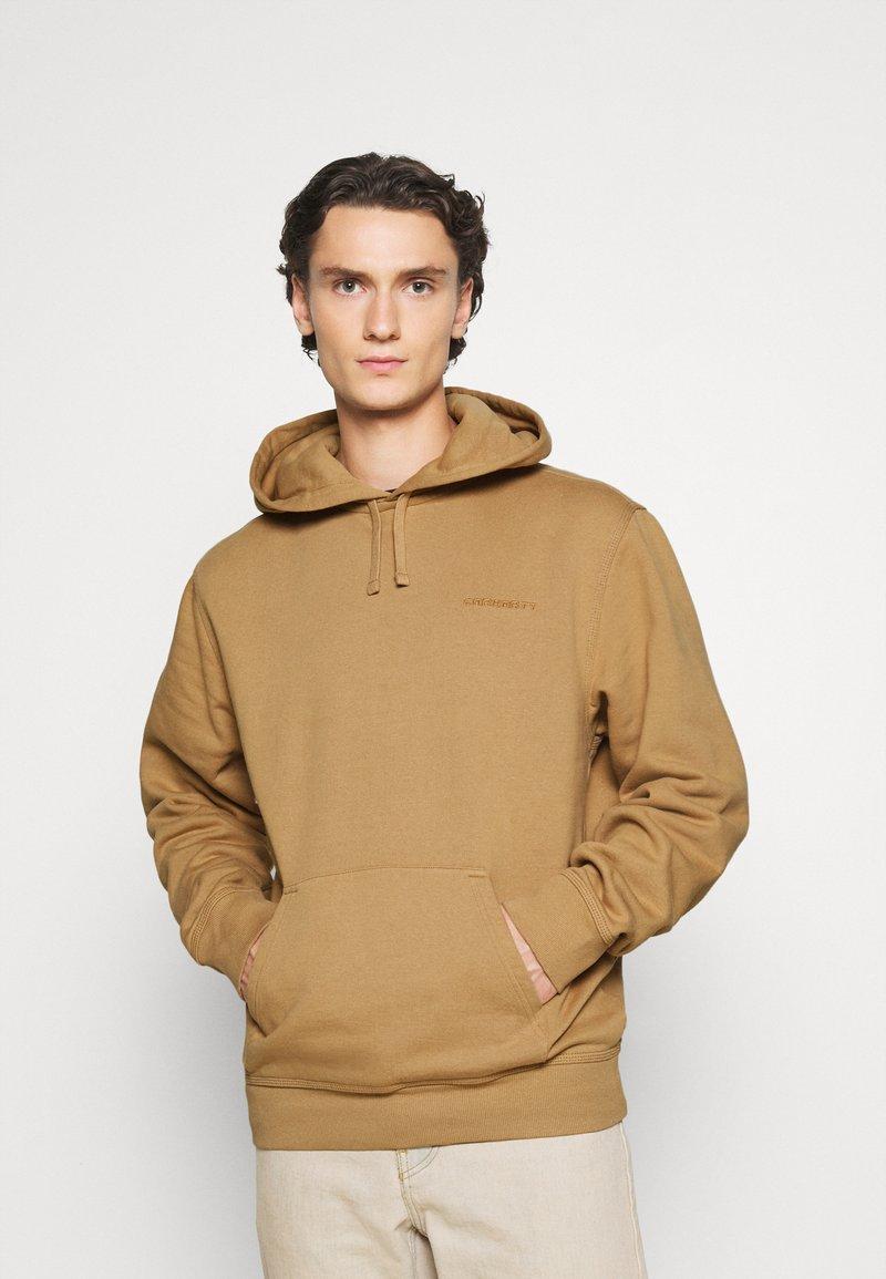 Carhartt WIP - HOODED ASHLAND - Jersey con capucha - dusty brown