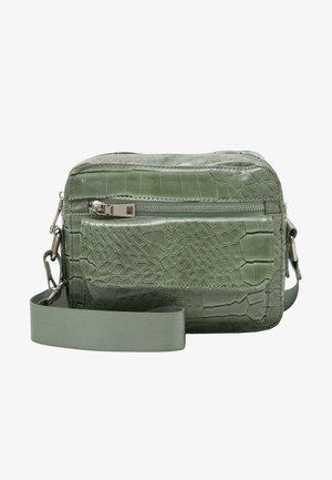 HALLI CROCO - Torba na ramię - dusty green