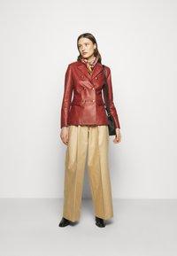 Bally - Leather jacket - spice - 1