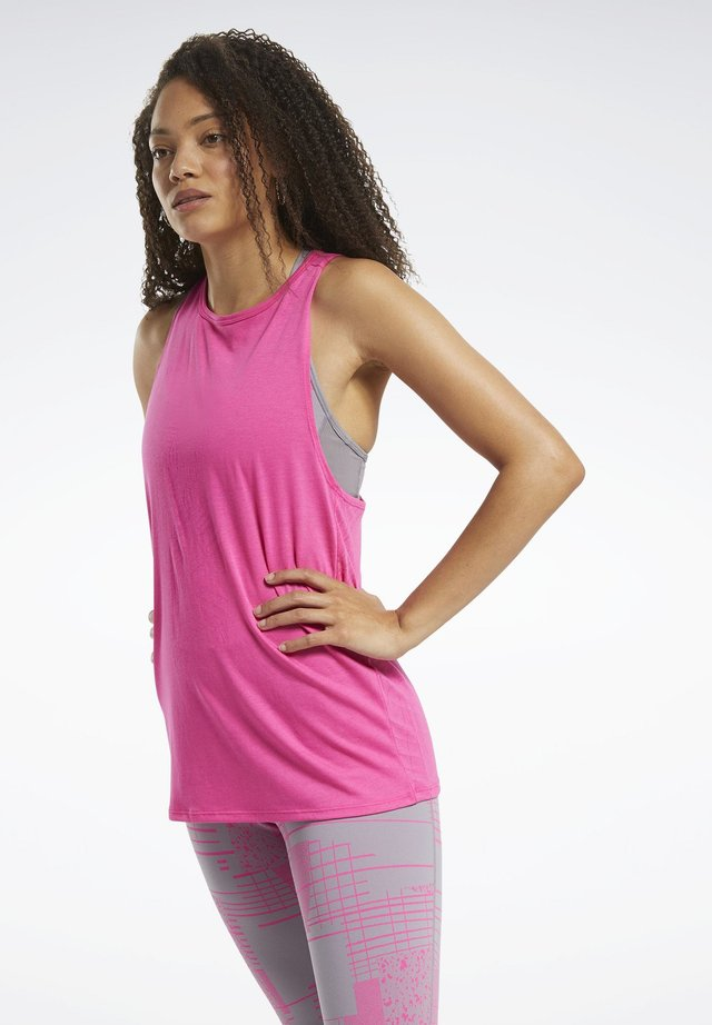 BURNOUT TANK TOP - Débardeur - pink