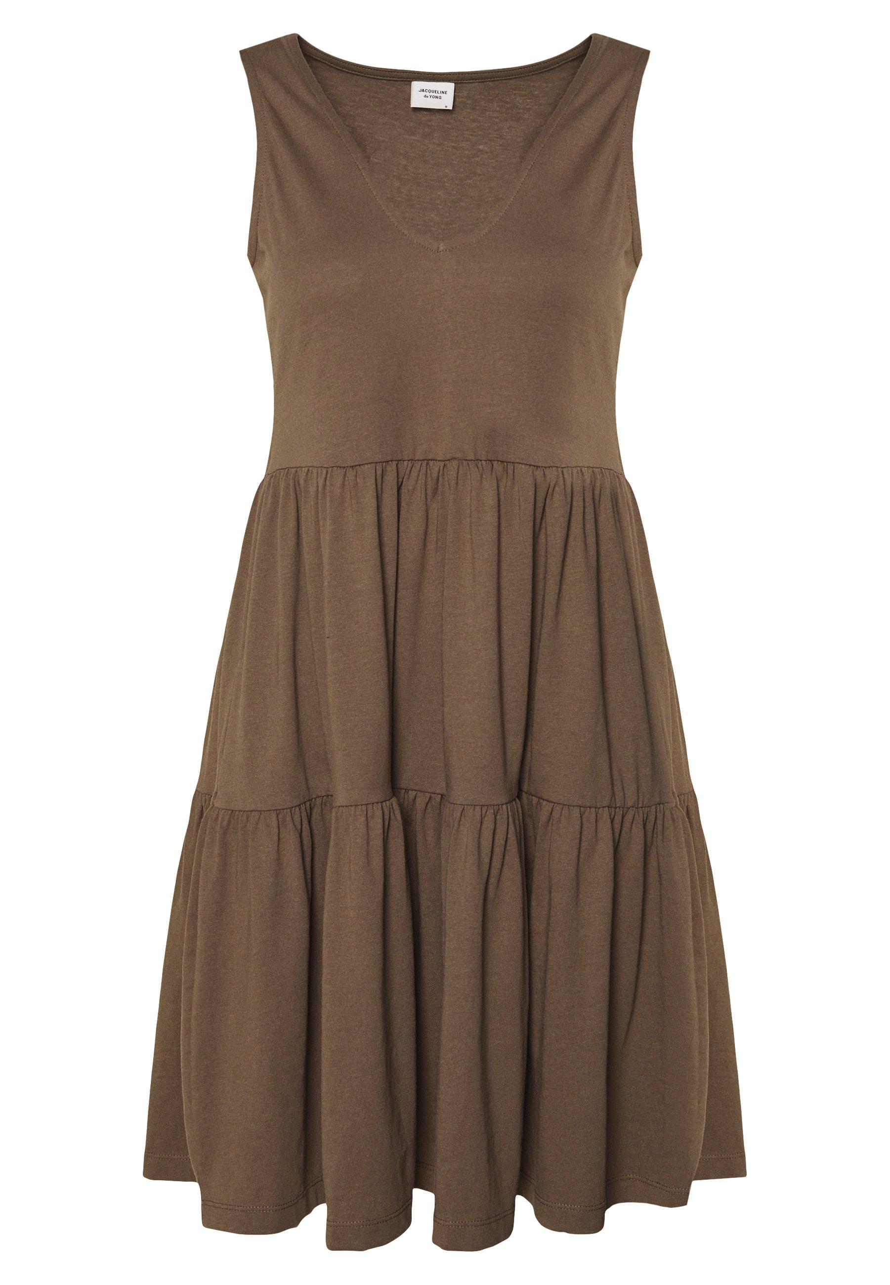 Damen JDYFENNA LIFE V NECK DRESS - Jerseykleid