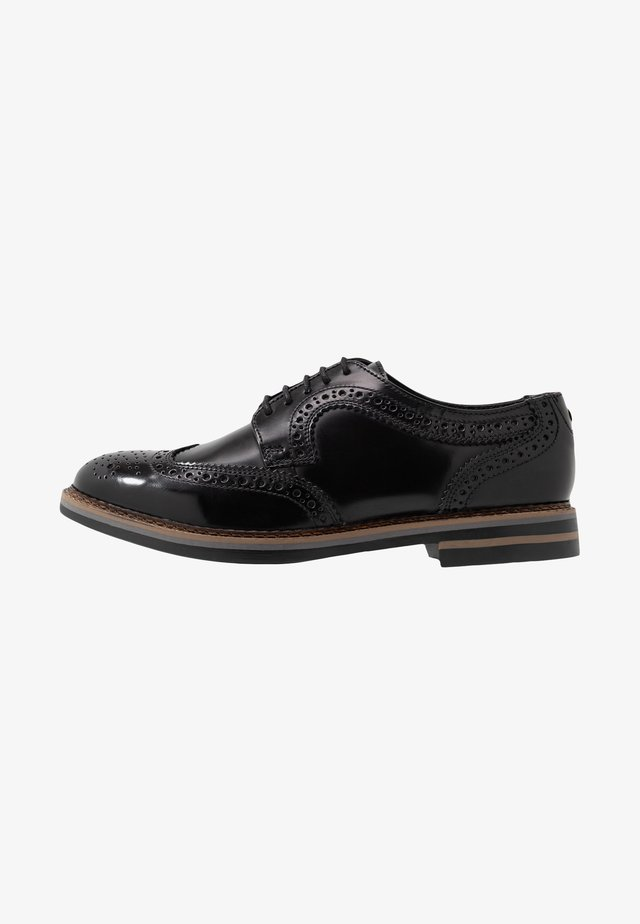 KENT - Veterschoenen - hi shine black