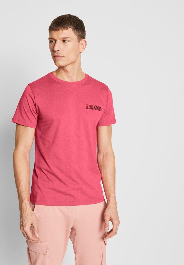 LOGO TEE - T-shirt imprimé - claret red