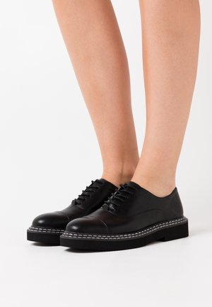 BASIC DERBY SHOES - Stringate - black