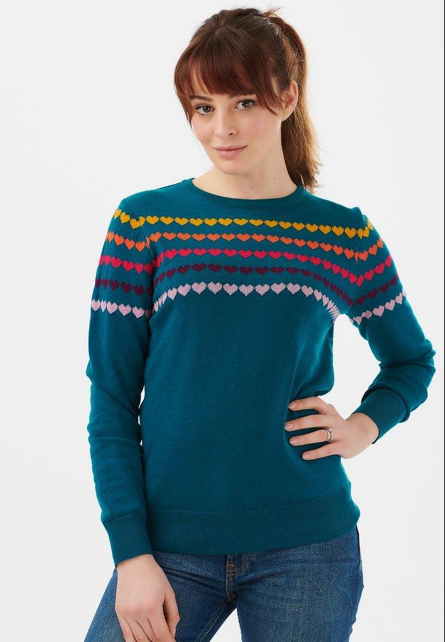VELMA LOVE LINE - Pullover - teal