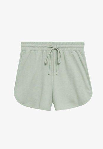 WAFFLE - Shorts - pastelgroen