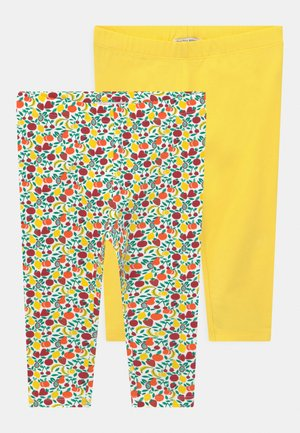 SMALL GIRLS 2 PACK - Legíny - celandine