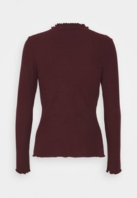 ONLY - ONLEMMA HIGH NECK - Long sleeved top - madder brown - 1