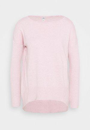 HIGH LOW JUMPER - Strikkegenser - pink light