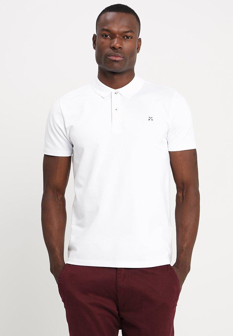 Selected Homme - SLHLUKE SLIM FIT - Pikeepaita - bright white