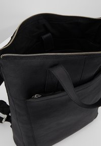 Zign - UNISEX -LEATHER - Rucksack - black - 4