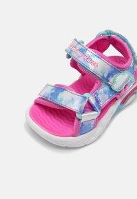 Skechers - RAINBOW RACER - Sandals - pink/light blue - 4