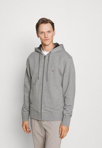 BASIC LINED HOODIE - Zip-up sweatshirt - medium grey heather