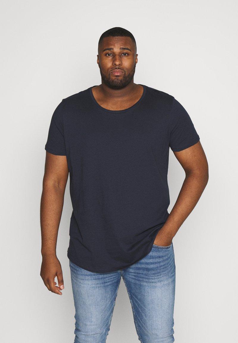 Lee - SHAPED TEE - T-shirt basique - sky captain