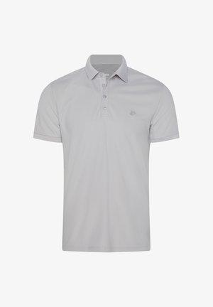WE FASHION HEREN HYBRIDS SLIM FIT POLO MET COOLMAX® - Polo shirt - light grey