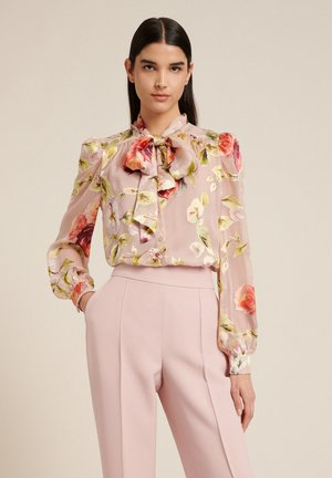 Button-down blouse - var rosa/corallo