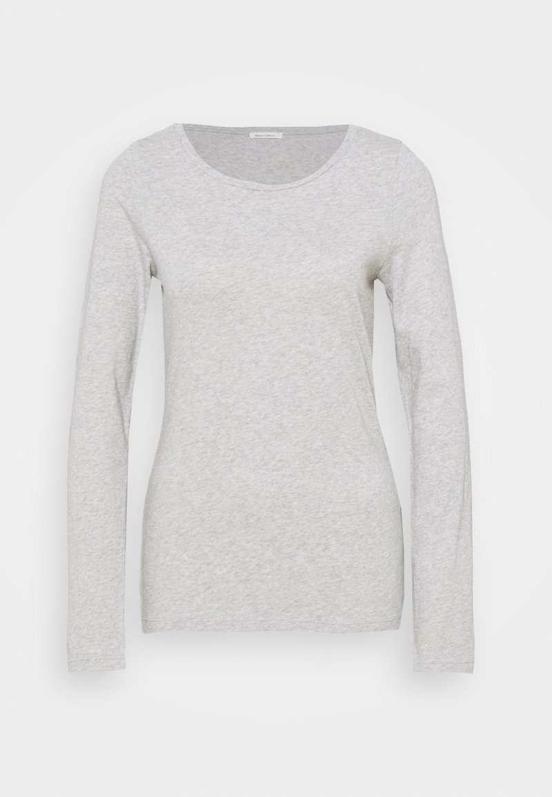 Marc O'Polo - LONG SLEEVE ROUND NECK - Long sleeved top - pebble
