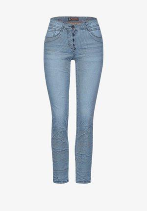 MIT STREIFEN - Slim fit jeans - blau