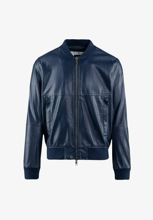 Faux leather jacket - navy blue