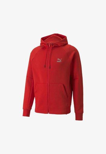 CLASSICS TECH HOODIE - Zip-up sweatshirt - high risk red