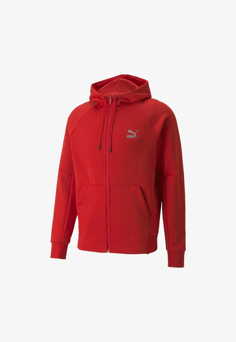 Puma - CLASSICS TECH HOODIE - veste en sweat zippée - high risk red