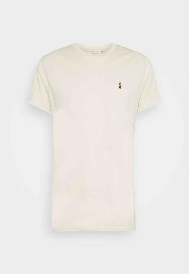 EMBROIDERED  - T-shirts med print - cream