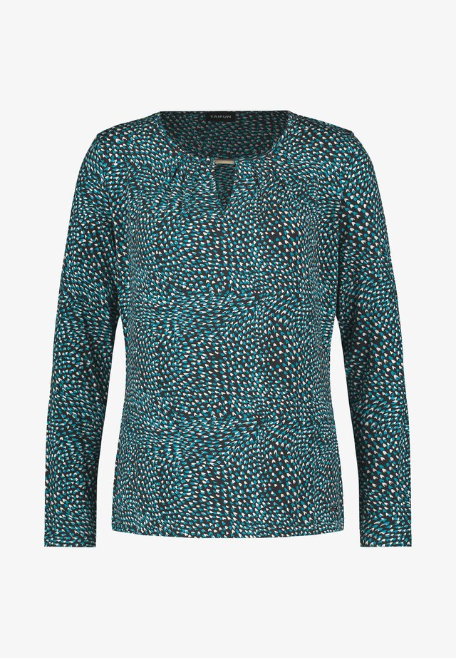 T-shirt à manches longues - anthra gemustert