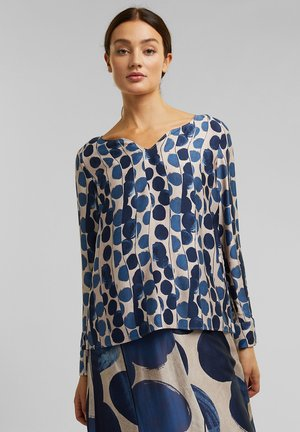 LENZING ECOVERO - Button-down blouse - bright blue