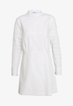 DOBBY MINI DRESS - Shirt dress - white