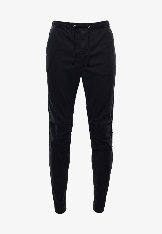 Trousers - washed black dogtooth