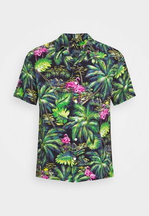 PRINTED - Shirt - green/dark blue