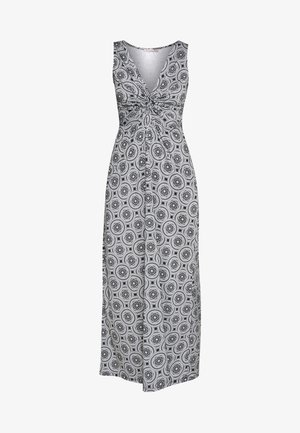 GEO PRINT DRESS  - Maxi šaty - maritime blue/white