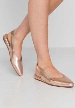 Slingback ballet pumps - rose metallic