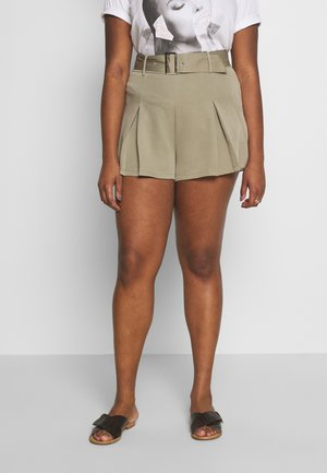 BELTED TAILORED - Shorts - mint