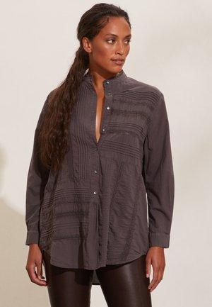 JENNIFER - Button-down blouse - deep asphalt