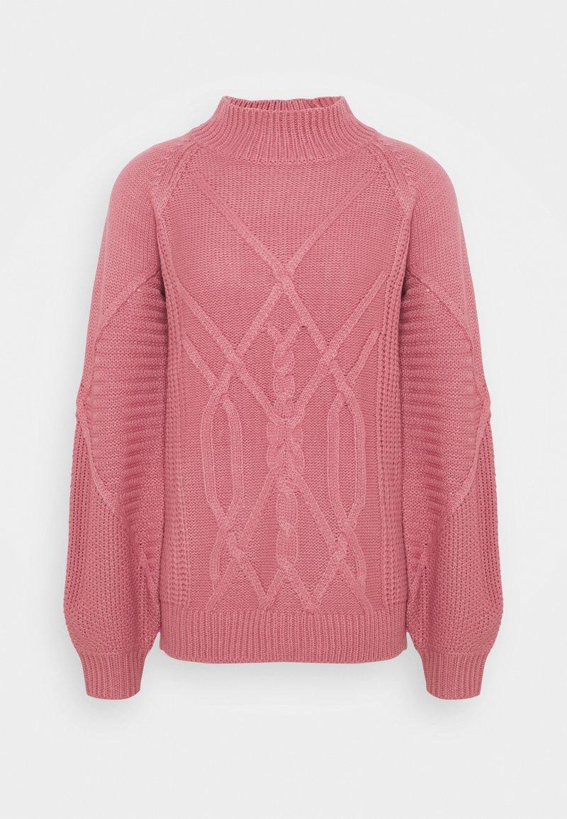 Dorothy Perkins Tall - CABLE HIGH NECK JUMPER - Jumper - pink