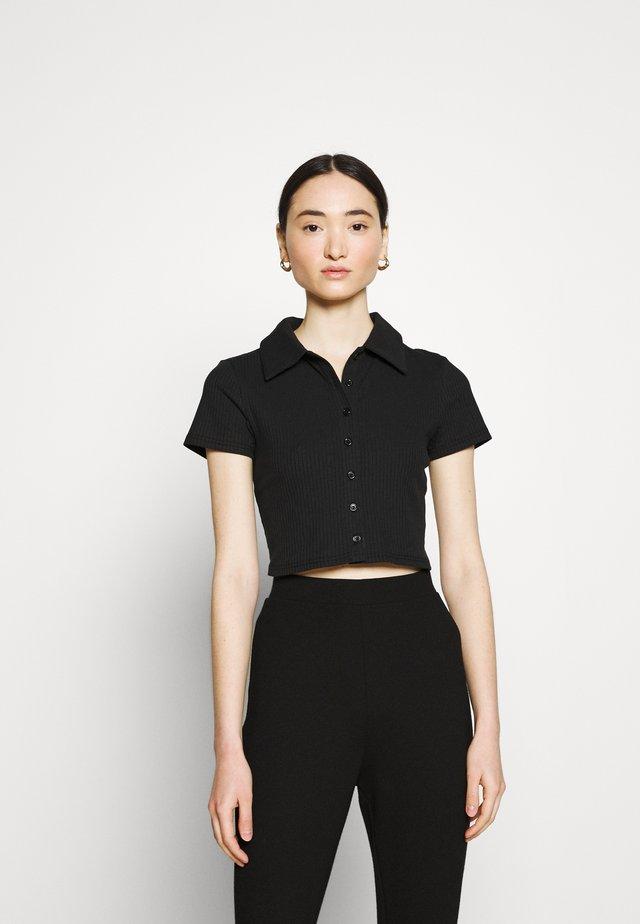 GLAMOROUS CARE CROP - Jednoduché triko - black