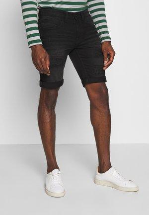 KADEN HOLES - Denim shorts - ultra black