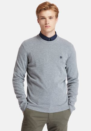 COHAS BROOK MERINO CREW - Felpa - medium grey heather