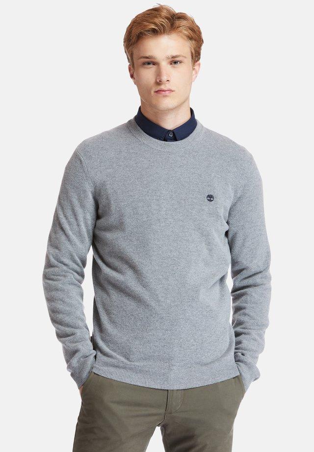 COHAS BROOK MERINO CREW - Sweatshirt - medium grey heather