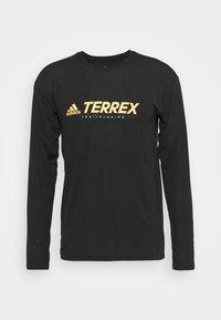 Terrex TRAIL LONGSL FOUNDATION PRIMEBLUE RUNNING LONG SLEEVE T-SHIRT - Long sleeved top - black