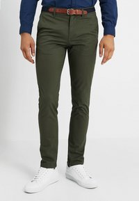 Selected Homme - SLHSLIM YARD PANTS - Chino kalhoty - deep depths - 0