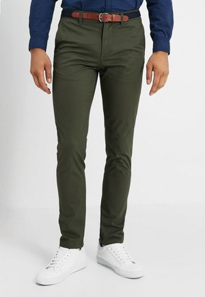 SLHSLIM YARD PANTS - Pantalones chinos - deep depths