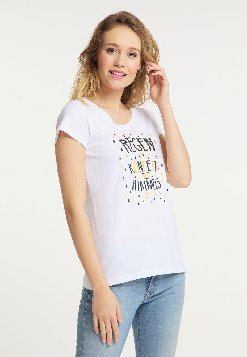 Schmuddelwedda - Print T-shirt - white